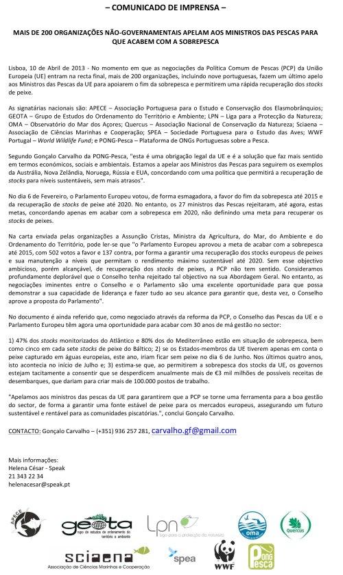 Microsoft Word - CI_ONGsPT_mais_de_200_ONGs_apelam_aos_ministros