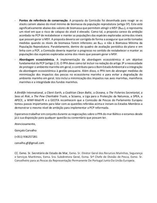 Carta - Ministra Assunção Cristas - Plano Plurianual do Mar Báltico - Abril 2015 - 2-2
