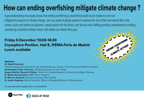 Overfishing-Climate Mitigiation event_6dec_COP25